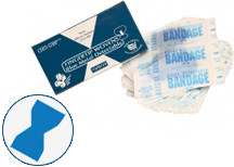 Fingertip Blue Band Aids