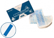 "Woven 1"" x  3"" Blue Band Aids"